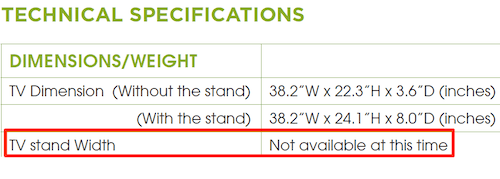 Tv Sizes Calculators To Find The Right Size Tv For Your Tv Stand